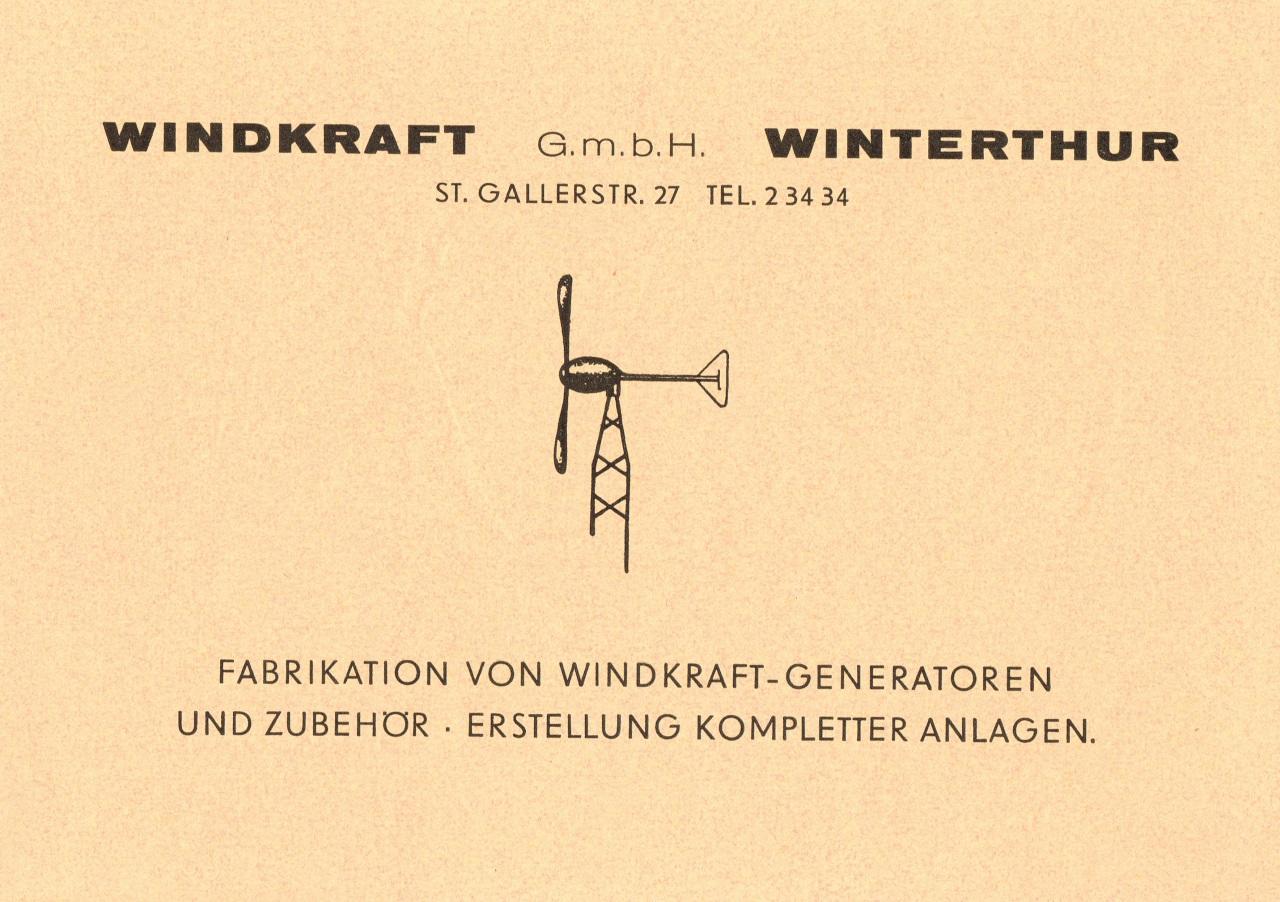 Unternehmen Windkraft Geschichte Winterthur